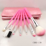 7 Piece Pink Brush with Brush Kit-Makeup Beauty