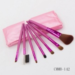 7 Piece Rose  Brush with Brush Kit-Makeup Beauty