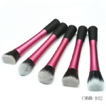 5pcs long handle Piink Ferrule Kabuki Brush Kit